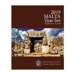 MALTE - COFFRET EURO BRILLANT UNIVERSEL 2019 - 9 PIECES (5.88 euros) incl. 2€ Ta' Hagrat