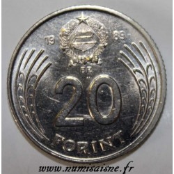 HONGRIE - KM 637 - 20 FORINT 1989