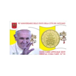 VATICAN - 50 CENT 2019 - COINCARD 10 - Pope Francis