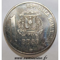 REPUBLIQUE DOMINICAINE - KM 66 - 1 PESO 1988