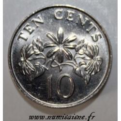 SINGAPORE - KM 51 - 10 CENTS 1990