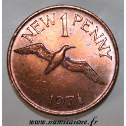GUERNESEY - KM 21 - 1 NEW PENNY 1971