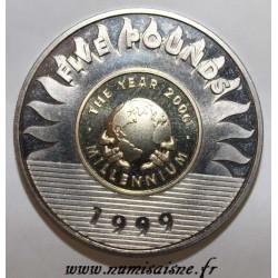 GUERNSEY - KM 91 - 5 POUNDS 1999 - MILLENIUM