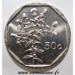 MALTA - KM 98 - 50 CENTS 1998