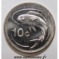 MALTA - KM 96 - 10 CENTS 1998