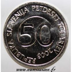 SLOVENIA - KM 52 - 50 TOLARJEV 2003