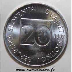 SLOVENIA - KM 8 - 20 STOTINOV 1992