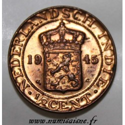 NETHERLAND EAST INDIES - KM 314.2 - 1/2 CENT 1945