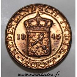 NIEDERLÄNDISCH-OSTINDIEN - KM 314.2 - 1/2 CENT 1945