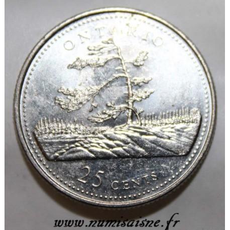 CANADA - KM 223 - 25 CENTS 1992 - ONTARIO