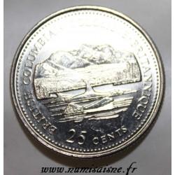CANADA - KM 232 - 25 CENTS 1992 - COLOMBIE BRITANNIQUE