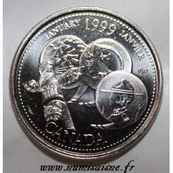 KANADA - KM 342 - 25 CENTS 1999 - JANUAR