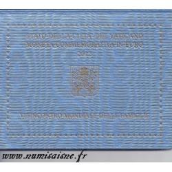 VATICAN - 2 EURO 2012 - BENOIT XVI - 7EME RENCONTRE MONDIALE DES FAMILLES