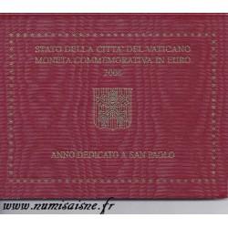 VATICAN - 2 EURO 2008 - BENEDICT XVI - YEAR DEDICATED TO SAINT PAUL