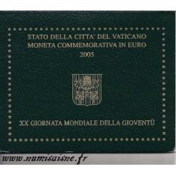 VATICAN - 2 EURO 2005 - BENEDICT XVI - 20TH WORLD YOUTH DAY