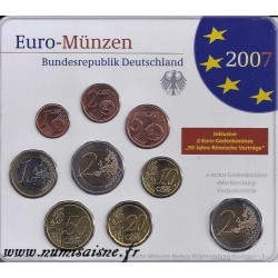 ALLEMAGNE - COFFRET 8 PIECES EURO 2007 + 2 EURO CASTLE OF SCHWERIN - ATELIER F - (5.88 €)