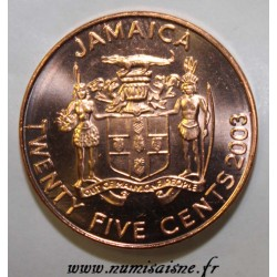 JAMAICA - KM 167 - 25 CENTS 2003