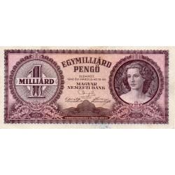 HONGRIE - PICK 125 - 1 MILLIARD PENGÖ - 18/03/1946