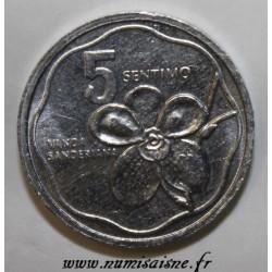 PHILIPPINES - KM 239 - 5 SENTIMO 1990