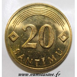 LATVIA - KM 22.2 - 20 SANTIMU 1992 - RARE - MAGNETIC ALLOY