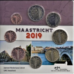 PAYS BAS - BLISTER EUROS 2019 - MAASTRICHT - 8 PIECES (3.88 euros)