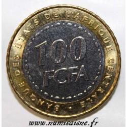 ÉTATS DE L'AFRIQUE CENTRALE - KM 15 - 100 FRANCS 2006