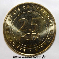 ÉTATS DE L'AFRIQUE CENTRALE - KM 20 - 25 FRANCS 2006