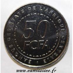 ÉTATS DE L'AFRIQUE CENTRALE - KM 21 - 50 FRANCS 2006