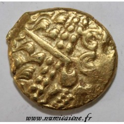 AMBIANI - AREA OF AMIENS - GOLD STATER BIFACE - DISJOINTED HORSE