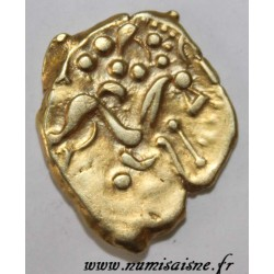 AMBIANI - AREA OF AMIENS - GOLD STATER - BIFACE ON A SHORT FLANK