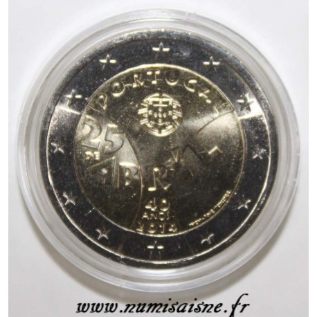 PORTUGAL - 2 EURO 2014 - 40th Anniversary of the April 25 Carnation Revolution