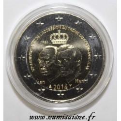 LUXEMBOURG - 2 EURO 2014 - 50ème anniversaire de l'accession au trône du Grand Duc Jean