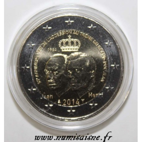 LUXEMBOURG - 2 EURO 2014 - 50th anniversary of Grand Duke's accession to the throne