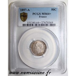 FRANCE - KM 794 - 50 CENT 1857 A - Paris - TYPE NAPOLEON III - PCGS MS 64 +