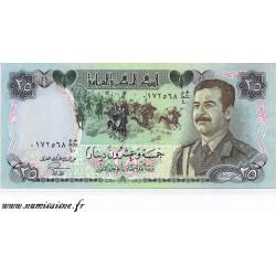 IRAQ - PICK 73 - 25 DINARS - 1986