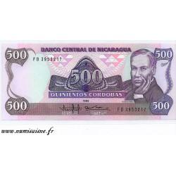 NICARAGUA - PICK 155 - 500 CORDOBAS - 1985 (1988)