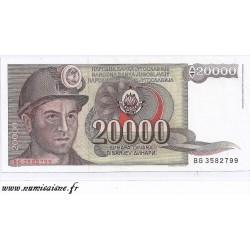 YUGOSLAVIA - PICK 95 - 20 000 DINARA - 01/05/1987