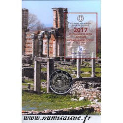 GREECE - 2 EURO 2017 - ARCHEOLOGICAL SITE OF PHILIPPES - COINCARD