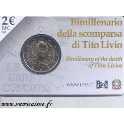 ITALIE - 2 EURO 2017 - 2000th Anniversary of the death of Titus Live - COINCARD