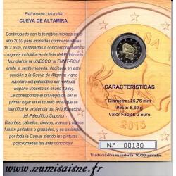 ESPAGNE - 2 EURO 2015 - GROTTE D'ALTAMIRA - COINCARD