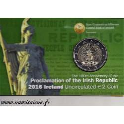 IRELANDE - 2 EURO 2016 - 100th Anniversary Easter Uprising - HIBERNIA - COINCARD