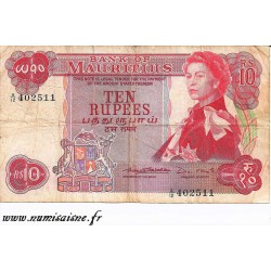 MAURICE - PICK 31 b - 10 RUPEES - NON DATE - 1967 - SIGN 2