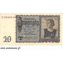 ALLEMAGNE - PICK 185 - 20 REICHMARK - 1939