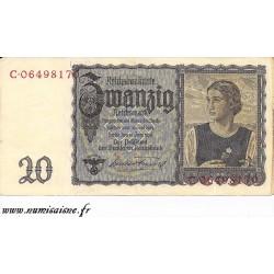 ALLEMAGNE - PICK 185 - 20 REICHSMARK - 1939
