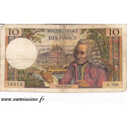 FAY 62/57 - 10 FRANCS VOLTAIRE - 01/06/1972