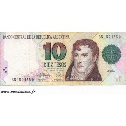ARGENTINA - PICK 342 b - 10 PESOS - NON DATE (1993) - SERIE D