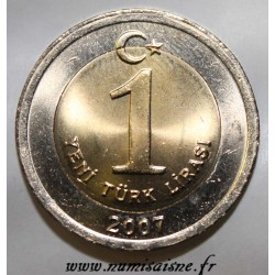 TURKEY - KM 1169 - 1 LIRA 2007