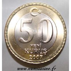 TURKEY - KM 1168 - 50 KURUS 2007
