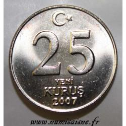 TURQUIE - KM 1167 - 25 KURUS 2007