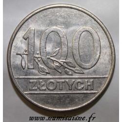 POLOGNE - Y 214 - 100 ZLOTYCH 1990